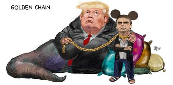 """Resultado de imagem para trump e bolsonaro charges"""""""
