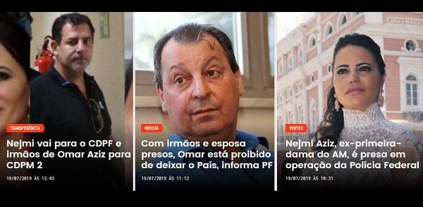 PF prende mulher e 3 irmãos de senador do Amazonas